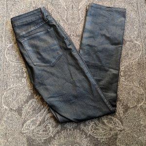 NYDJ metallic gray skinny jeans size 2